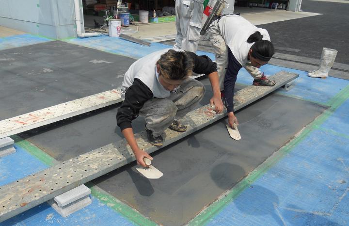 スタンプコンクリート工法1