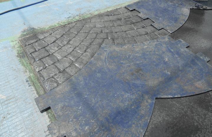 スタンプコンクリート工法2