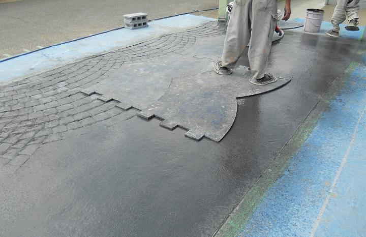 スタンプコンクリート工法3