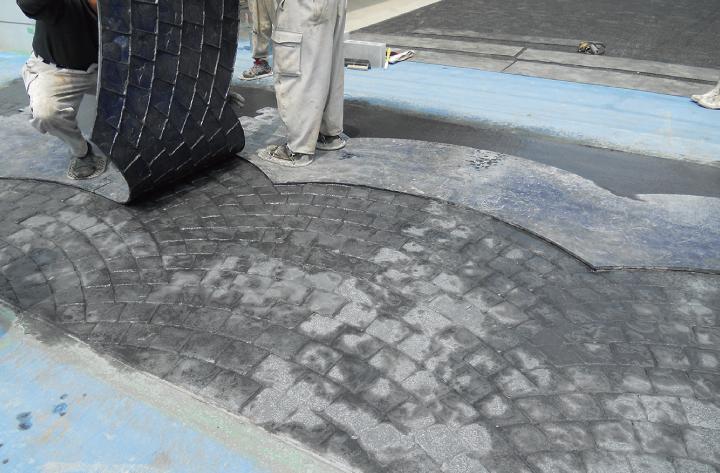 スタンプコンクリート工法4