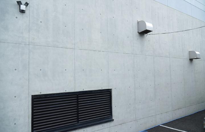 壁面の打ち放しデザイン